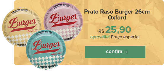 Prato Raso Burger 26cm Oxford