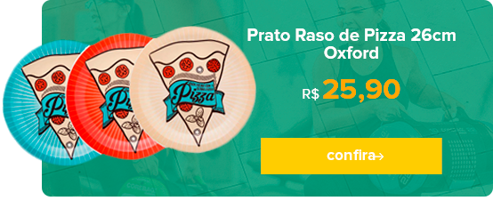 Prato Raso Pizza 26cm Oxford