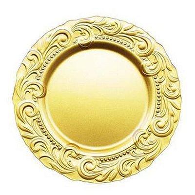 SousplatRenaissance 33 CM Ouro - Vylux