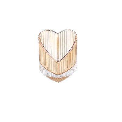 Castiçal Lined Heart Ambar - Urban