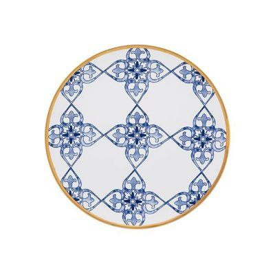 Prato de Sobremesa de Porcelana da Linha Coup Lusitana - Oxford