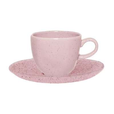 Xícara de Chá com Pires Pink Sand - Oxford