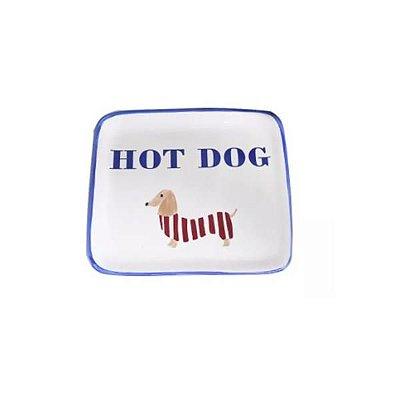 Prato Quadrado Hot Dog - Luiz Salvador