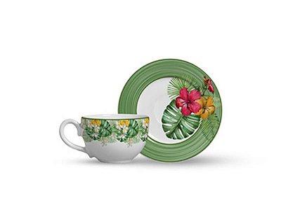 Xicara de Chá com Pires Macaw