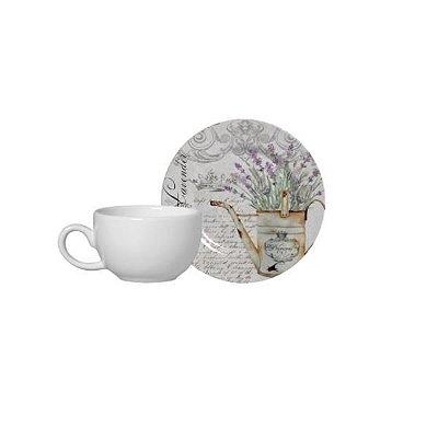 Xícara de Café Lavanda