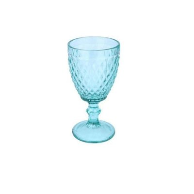 Taça para Água Vitral Azul Tiffany Verre
