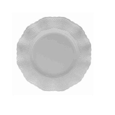 Prato Raso de Porcelana Princess Branco