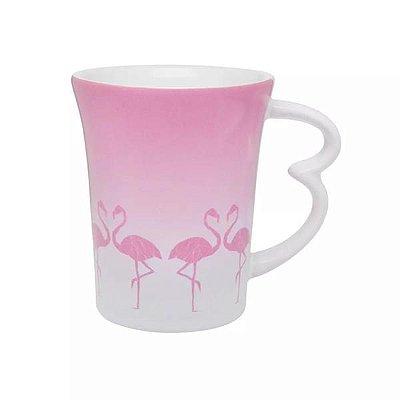 Caneca Easy Flamingo de Porcelana 330ml
