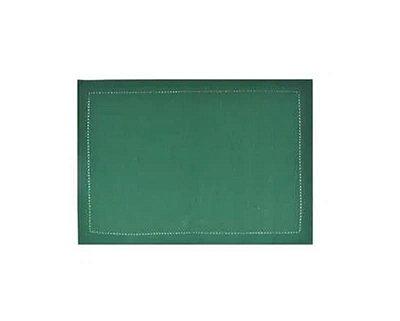 Kit Duas Peças 1 Guardanapo e 1 Lugar Americano Liso Verde