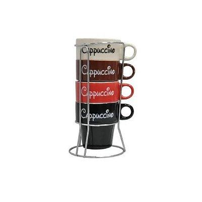 Jogo de Xícaras de Chá Cappuccino 5 Peças