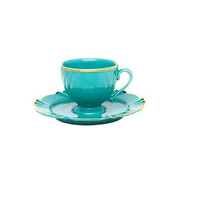 Jogo 6 Xicaras de Chá de Porcelana Soleil Aurora 200ml