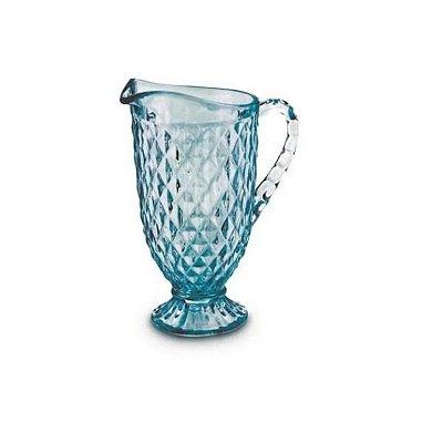 Jarra de Vidro Verre Azul Tiffany Bico de Abacaxi