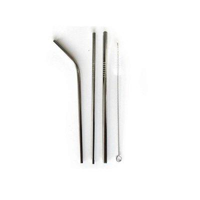 Kit Canudos Stainless Steel 4 Peças