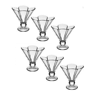 Conjunto com 6 Taças de Vidro para Sobremesa