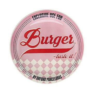 Prato Raso Burger 26cm Rosa