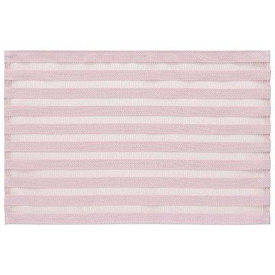 Lugar americano trama sintética rayas rosa chá