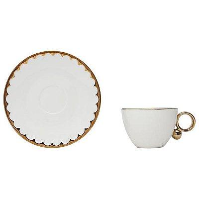 Xícara de chá em porcelana egg - Wolff