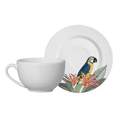 Xícara de Chá com Pires Fauna 200ml - Alleanza