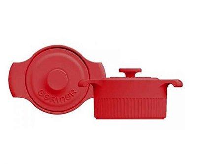 Mini Panelinha Cocotte Porcelana Vermelho 34