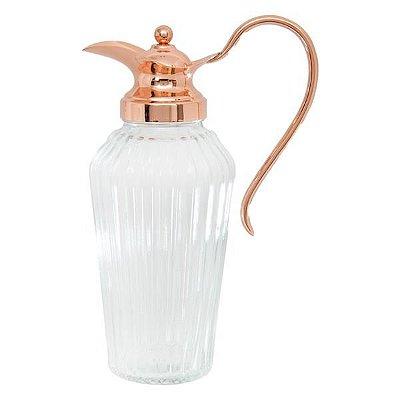 Jarra de vidro com tampa de zamac alepo rose 1,5l - Lyor