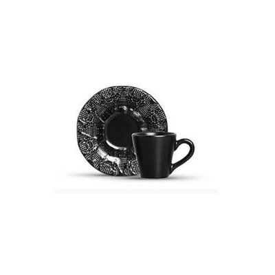 Xicara de Chá Preto Fosco Renda