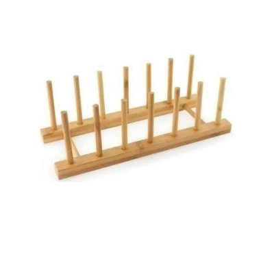 Suporte de Bambu para 6 Pratos Eco - Mimo Style
