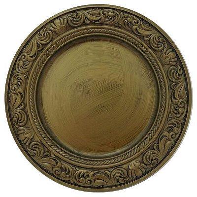 Sousplat Barroco Dourado - Mimo Style