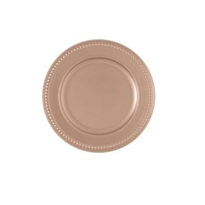 Sousplat Galles Dots Rose Gold Antique - Copa & Cia