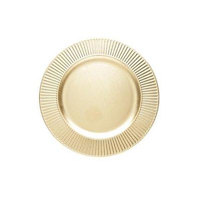 Sousplat Premier Dourado 33cm - Lyor