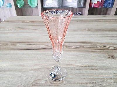 Jogo com 6 Tacas para Champagnede Cristal Ecologico Wellington Rose Quartz 180ml