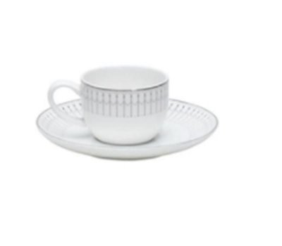 Xicara de Café Bone China Kiev Prateado 90 ml - Wolff