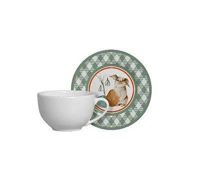 Xícara de Chá com Pires Bunny Páscoa - Alleanza