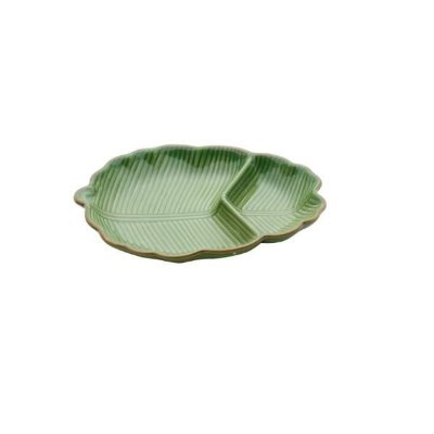 Petisqueira Folha Banana Leaf Verde - Lyor