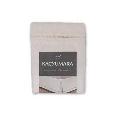Saia Box Ponto Palito King Bege 1,58m x 1,98m x 32cm - Kacyumara
