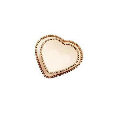Jogo Pratinho com Bowl de Coração Branco com Bolinhas Douradas - Home Design