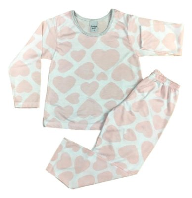 ea10ab4bb8a0d6 Pijama Infantil Coração Junkes Baby 50103