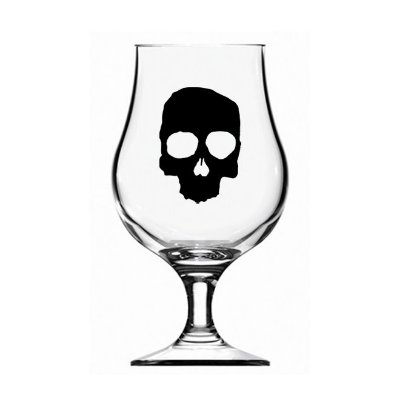 Taça Dublin Caveira - 400 ml - Guitera Brewers