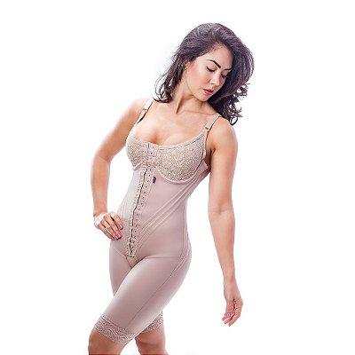 Cinta modeladora feminina macaquinho pré moldado