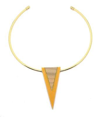 Colar Minimal Triangular Damasco