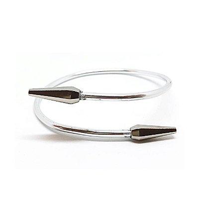 Bracelete Minimal Spike Prateado