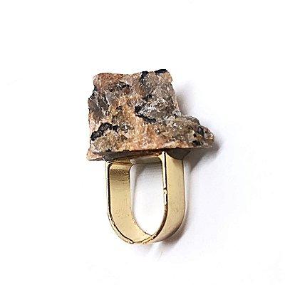 Anel Pedra Bruta Mescla