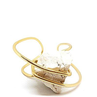 Bracelete Pedra Bruta Marmorizada