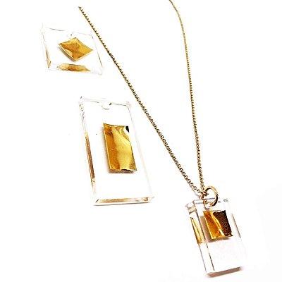 Escolha seu pingente - Colar Corrente Dourada Slim