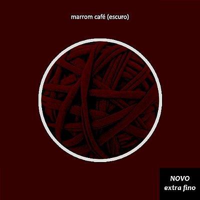 Fio de malha Premium Extrafino - Marrom Café Expresso - 130m - aprox. 350gr