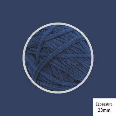 OUTLET- Fio de Malha Premium 23 mm - Azul Jeans Escuro Classic Blue - 342 gr