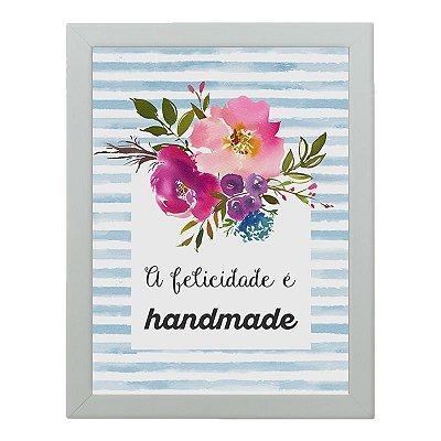 Quadro Decorativo Fios Kiki - A felicidade é handmade