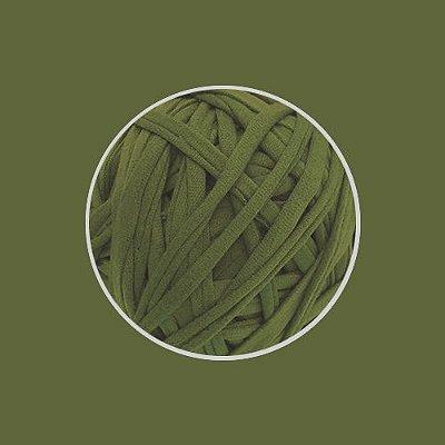 OUTLET  Fio de Malha Premium Fio 23mm - Verde Oliva - aprox. 450gr