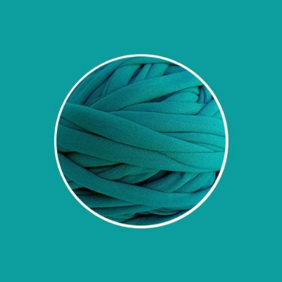 OUTLET  Fio de Malha Premium Fio 23mm - Turquesa Escuro - aprox. 384gr