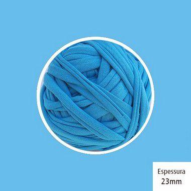 OUTLET  Fio de Malha Premium Fio 23mm - Azul Hortênsia - aprox. 470gr