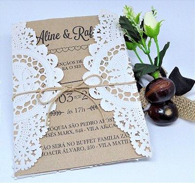 Convite Casamento Boho